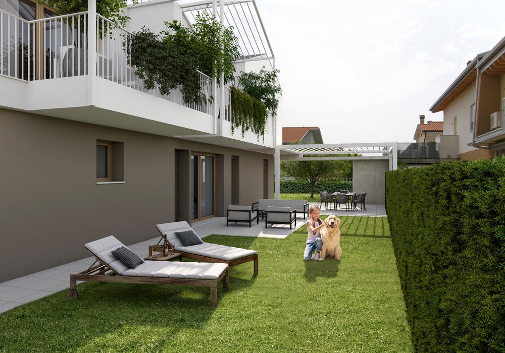 case con giardino vendita sovizzo vicenza - le pergole 2